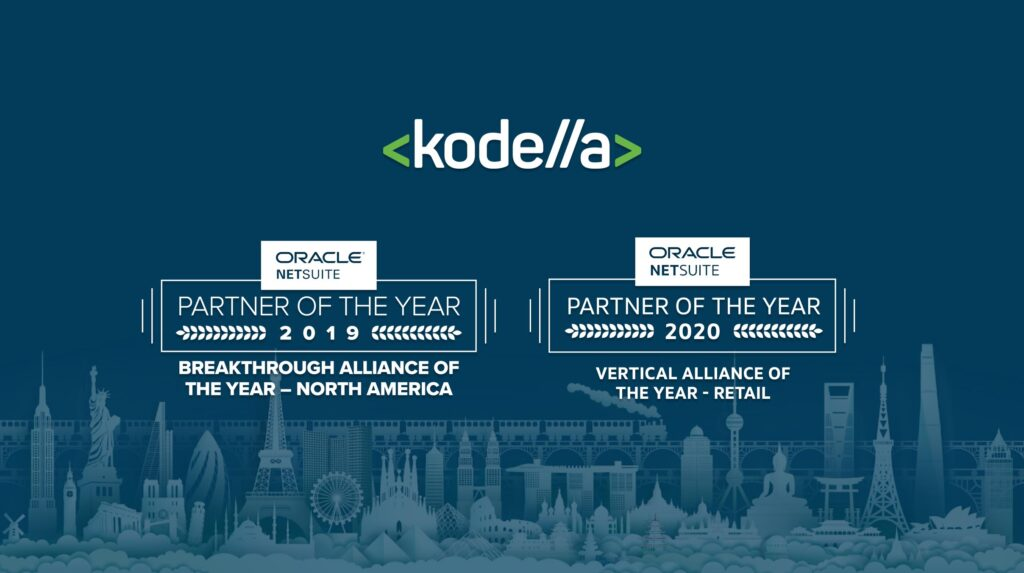 Kodella has won Oracle NetSuite's Partner of the Year award two years in a row