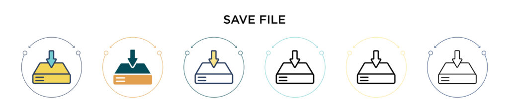 save file icons