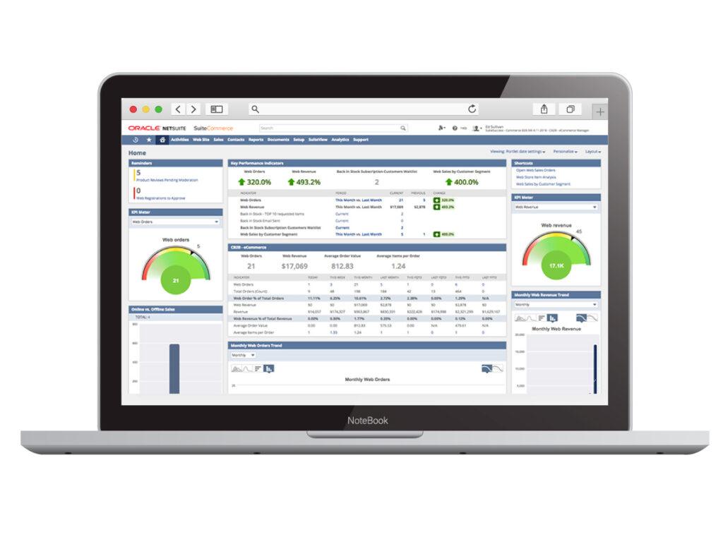suitecommerce laptop screen